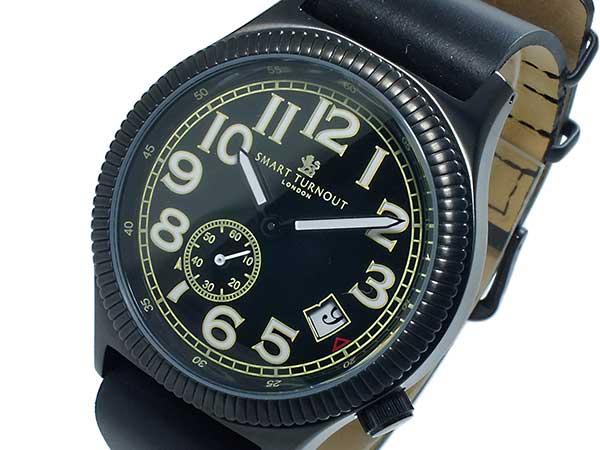 スマート ターンアウト SMART TURNOUT クオーツ メンズ 腕時計 時計 ST-007BBK 替えベルト付き【_包装】【ポイント10倍】 【ポイント10倍】【ラッピング無料】