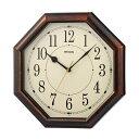ノア精密 MAG電波掛時計 ネオオクターゴ W-739 BR-Z ブラウン 八角時計 八角形