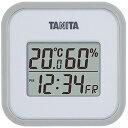 タニタ(TANITA) デジタル温湿度計 置き掛け両用タイプタイプ/マグネット付 グレー TT-558-GY【ポイント10倍】