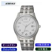 【AUREOLE】オレオール メンズ腕時計 SW-483M-3 アナログ表示 10年電池 オールチタン 10気圧防水 /1点入り(代引き不可)【ポイント10倍】