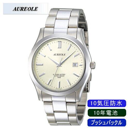 【AUREOLE】オレオール メンズ腕時計 SW-409M-3 10気圧防水 10年電池 /1点入り(き)【ポイント10倍】 【ポイント10倍】【AUREOLE】優れた機能性と洗練されたデザイン