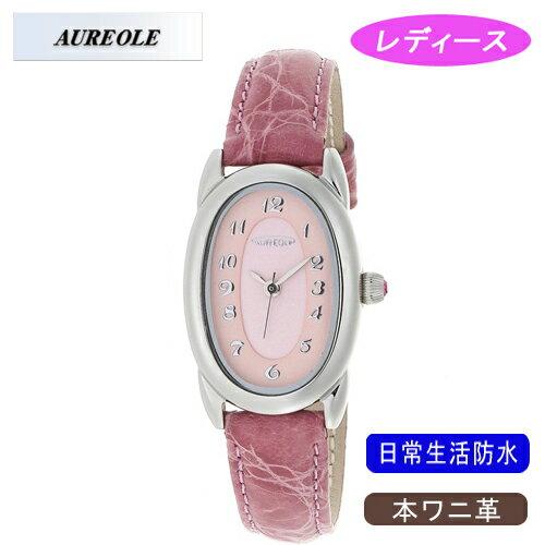 【AUREOLE】オレオール レディース腕時計 SW-487L-4 アナログ表示 本ワニ革 日常生活用防水 /10点入り(き)【ポイント10倍】 【ポイント10倍】【AUREOLE】優れた機能性と洗練されたデザイン