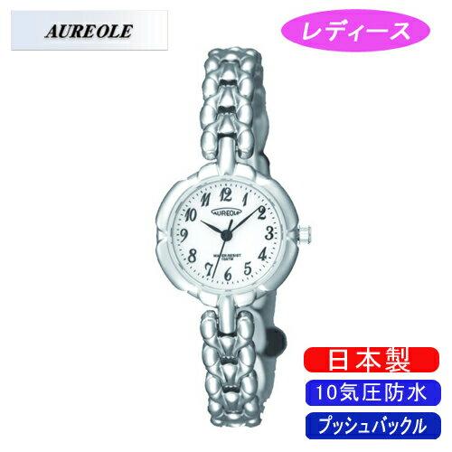 【AUREOLE】オレオール レディース腕時計 SW-496L-C アナログ表示 10気圧防水 日本製 /10点入り(き)【ポイント10倍】 【ポイント10倍】【AUREOLE】優れた機能性と洗練されたデザイン