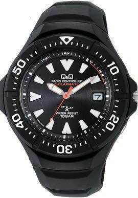 【CITIZEN】シチズン Q&Q ソーラー電源 電波 メンズ腕時計HG10-302 /5点入り(き)【ポイント10倍】 【ポイント10倍】電池交換不要のソーラー電源!正確な時間で安心の電波時計