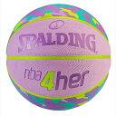 SPALDING スポルディング バスケットボール 6号 4HER チーター 女性用バスケットボール ラバー 83-309Z【ポイント10倍】