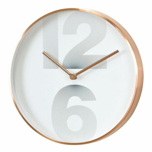 EDGE NUMBER SMART WALL CLOCK COPPER 30CM エッジ ウォールクロック 壁時計(代引不可)【ポイント10倍】【送料無料】