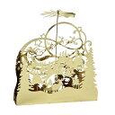 クリスマス ロータリーキャンドルホルダー ゴールドクリスマスナイト NKXK3970GD(代引不可)【送料無料】