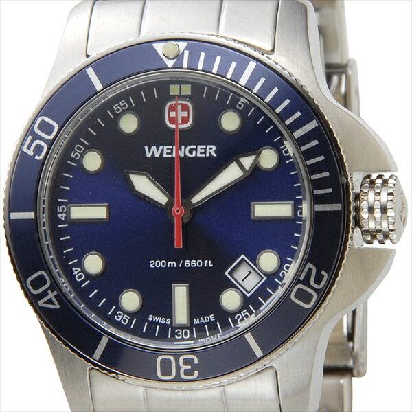 WENGER ウェンガー 腕時計 WEN72338 レディース バタリオン ブルー/シルバー【ポイント10倍】 【ポイント10倍】腕時計 WEN72338 レディース バタリオン ブルー/シルバー