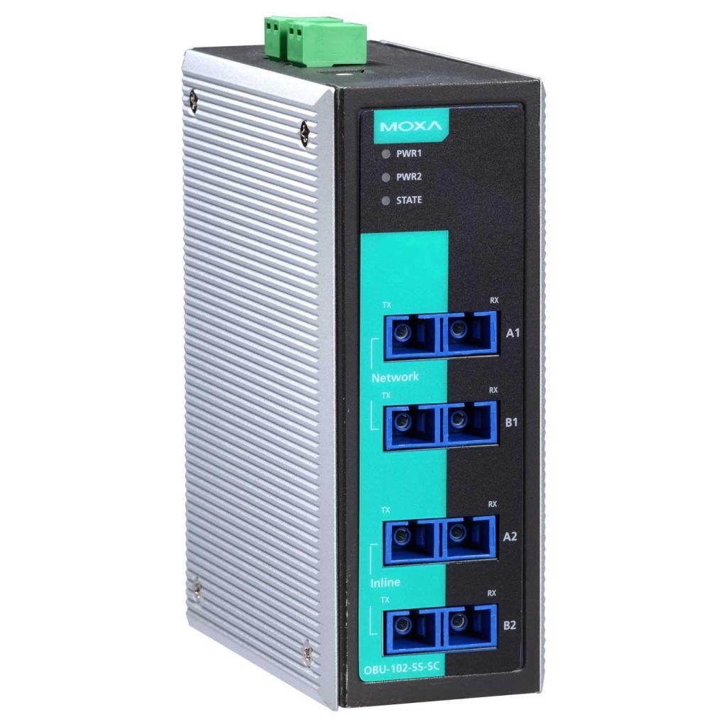 MOXA MOXA1 2チャネル光ファイバ・バイパスユニット、シングルSC OBU-102-SS-SC(代引き不可)【ポイント10倍】