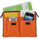 ショッピングバッグインバッグ A5バッグインバッグ オレンジ A7553-4(代引不可)