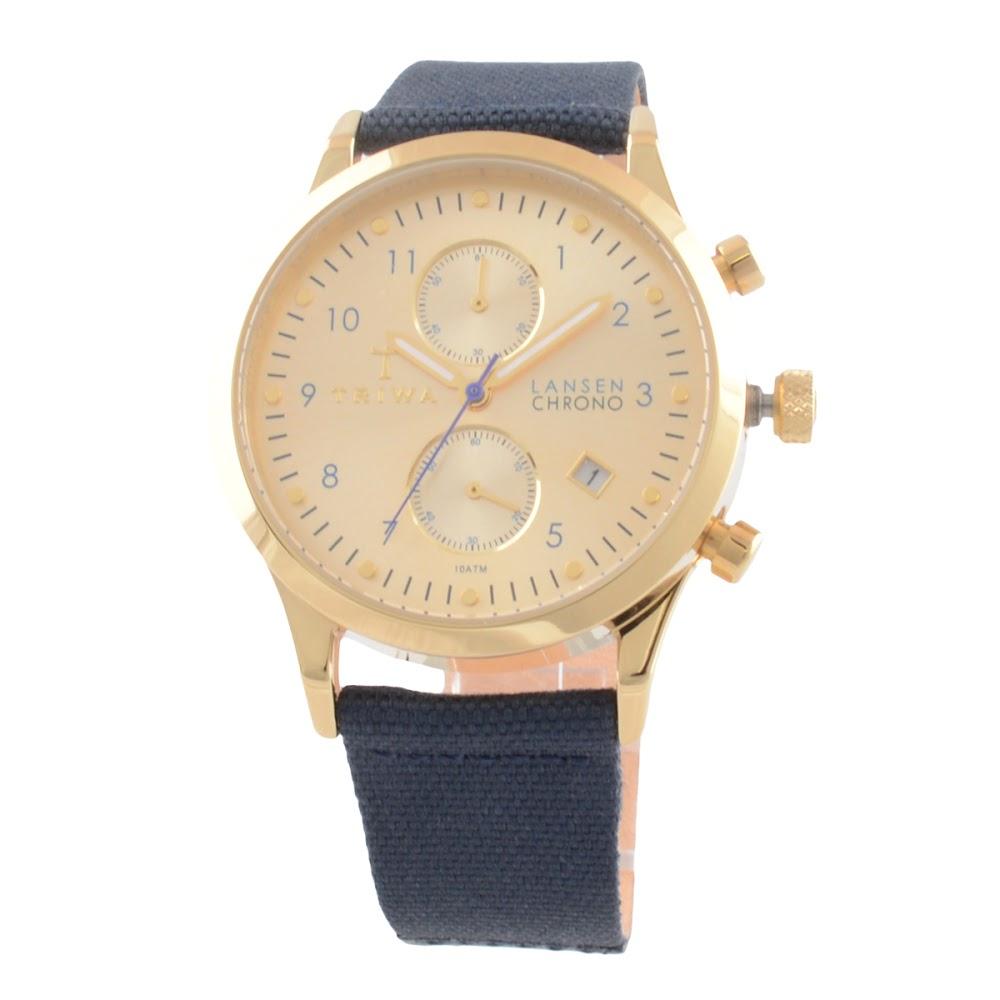 トリワ TRIWA Lansen Chrono (ランセン クロノ・ネイビーキャンバス ) LCST103.CL060713【送料無料】【ポイント10倍】 メンズ ファッション 腕時計(メンズ ファッション 腕時計)