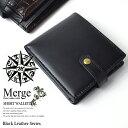 馬革×牛革スナップ式短財布 財布 メンズ 二つ折り レザー 革 Merge マージ(代引き不可)【ポイント10倍】
