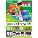 サンワサプライ カラーレーザー用フォト光沢紙・厚手 LBP-KAGNA3N【送料無料】 (代引不可)