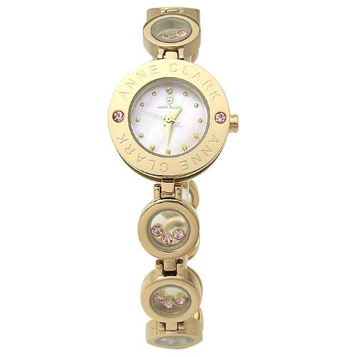 時計 レディース ブランド 腕時計 ANNE CLARK アン クラーク 1P天然ダイヤ入りレディースウォッチ AT1008-17PG