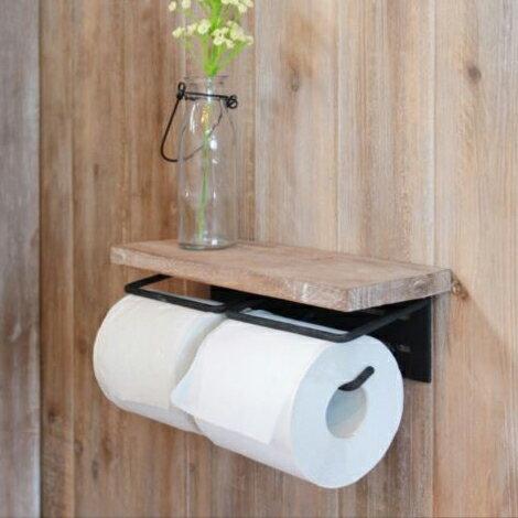 木製 トイレットペーパーホルダー ダブル 【JOKER】(ジョーカー)トイレットペーパーホルダー2連【ポイント10倍】【送料無料】