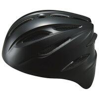 ZETT(ゼット) BHL40S ソフト捕手用ヘルメット ブラック O(59〜61cm)【ポイント10倍】の画像