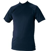 ZETT(ゼット) ハイブリッドアンダーシャツ ハイネック半袖 BO1720 【カラー】ネイビー 【サイズ】S【ポイント10倍】の画像