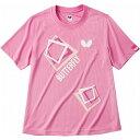 バタフライ(Butterfly) 男女兼用Tシャツ キュービック・Tシャツ 45070 【カラー】ピンク 【サイズ】L【ポイント10倍】
