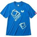 バタフライ(Butterfly) 男女兼用Tシャツ キュービック・Tシャツ 45070 【カラー】ブルー 【サイズ】L【ポイント10倍】
