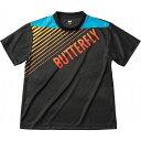 バタフライ(Butterfly) 男女兼用Tシャツ グラデイト・Tシャツ 45090 【カラー】ブラック 【サイズ】XO【ポイント10倍】