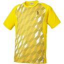 羽毛球 - GOSEN(ゴーセン) ゲームシャツ T1514 【カラー】イエロー 【サイズ】XL【ポイント10倍】【送料無料】