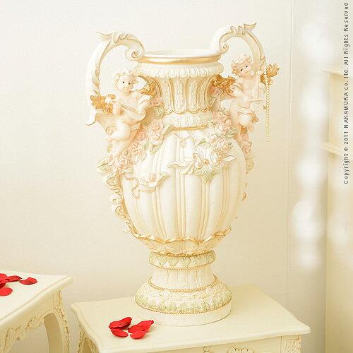 エンジェルシリーズ Ange〔アンジェ〕 花瓶オブジェ(大) 完成品 花瓶 白 エンジェル (代引き不可)【送料無料】