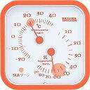 タニタ(TANITA) アナログ温湿度計 置き掛け両用タイプ/マグネット付 オレンジ TT-557-OR