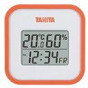 タニタ(TANITA) デジタル温湿度計 置き掛け両用タイプタイプ/マグネット付 オレンジ TT-558-OR