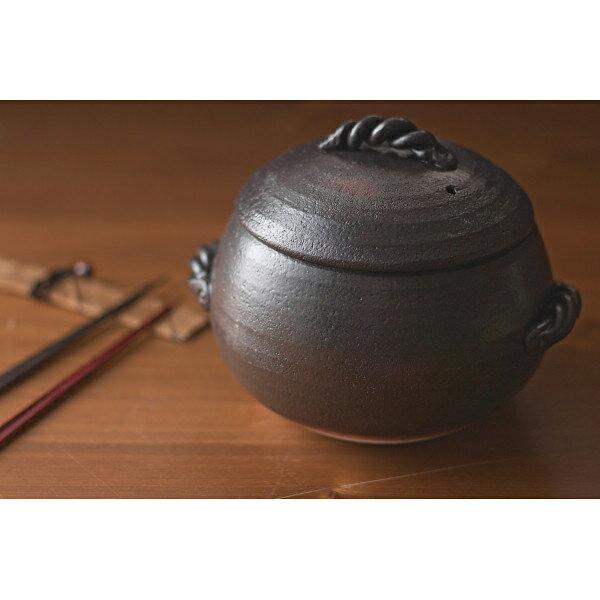 萬古焼 栗型ごはん鍋 5合炊 420‐596(代引不可)