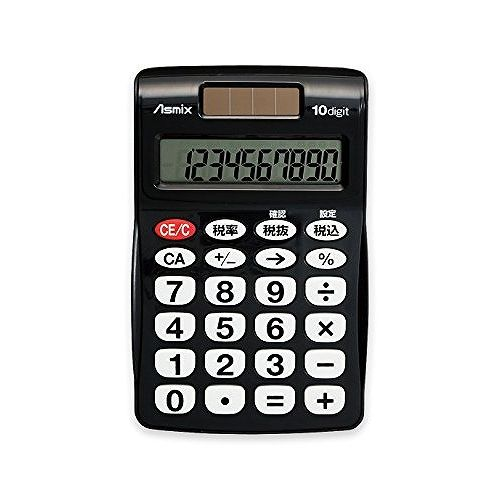 アスカ ビジネス電卓ポケット BK C1009BK