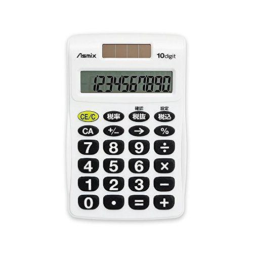 アスカ ビジネス電卓ポケット WH C1009W