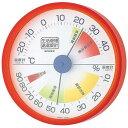 EMPEX (エンペックス) 生活管理 温度・湿度計 壁掛用 TM-2414 クリアオレンジ