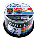 HI DISC DVD-R 4.7GB 50�祹�ԥ�ɥ� 1��16��®�б� �磻�ɥץ�󥿥֥� HDDR47JNP50(������Բ�)