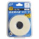 ZERO ホワイト 固定用スポーツテープ 非伸縮 指用 12mm×13.75m 4巻入 日進医療器(衛生用品)