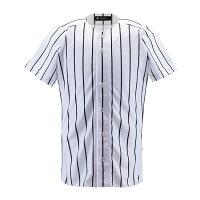 デサント(DESCENTE) ユニフォームシャツ フルオープンシャツ(ワイドストライプ) DB6000 【送料無料】の画像