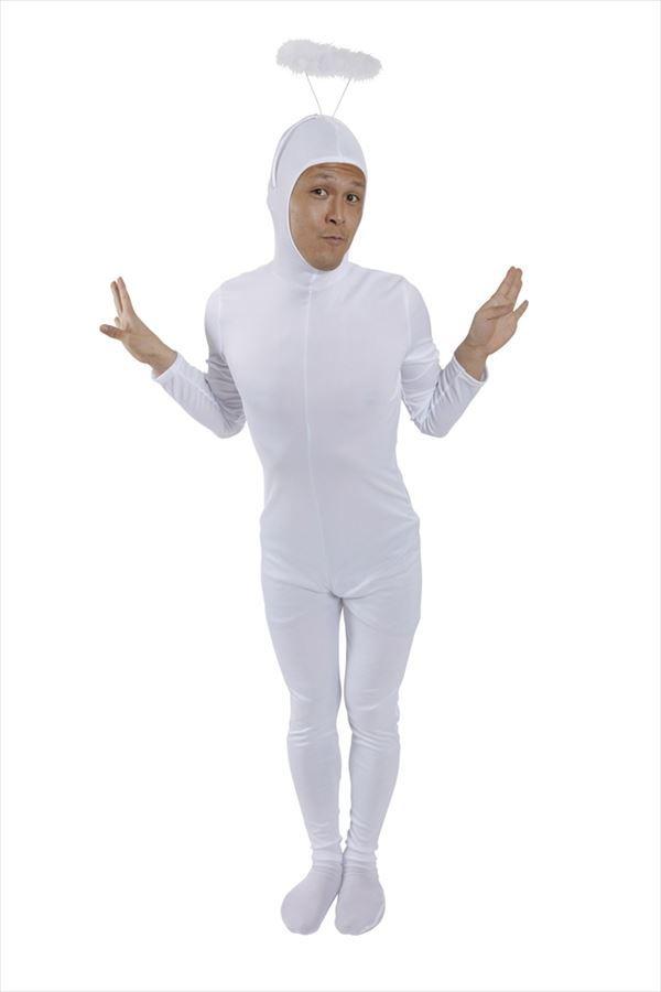 全身タイツくん 白 M コスプレ 衣装 ハロウィン メンズ 全身タイツ(代引不可):リコメン堂ファッション館