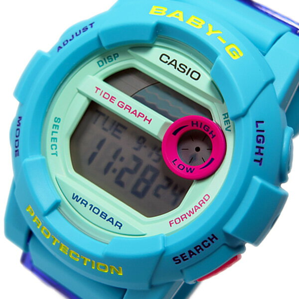 カシオ ベビージー Baby-G Gライド レディース 腕時計 BGD-180FB-2 ブルー【_包装】 【ラッピング無料】【矢野ゆかり】