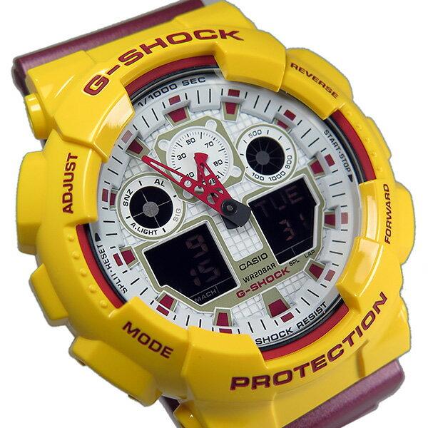 カシオ CASIO Gショック G-SHOCK クオーツ メンズ 腕時計 GA-100CS-9A ホワイト【送料無料】【_包装】 【送料無料】【ラッピング無料】ユニーク
