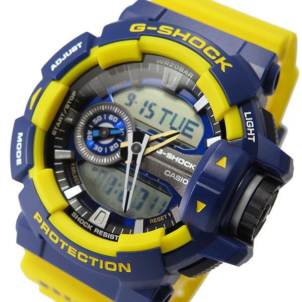 カシオ Gショック G-SHOCK クオーツ メンズ 腕時計 GA-400-9B イエロー/ネイビー【送料無料】【_包装】 【送料無料】【ラッピング無料】