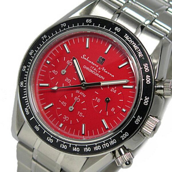 サルバトーレ マーラ クロノ クオーツ メンズ 腕時計 SM15111-SSRD レッド【送料無料】【_包装】 【送料無料】【ラッピング無料】