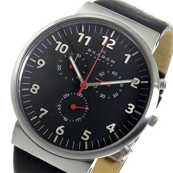 スカーゲン SKAGEN アンカー クロノ クオーツ メンズ 腕時計 SKW6100 ブラック【送料無料】【_包装】 【送料無料】【ラッピング無料】