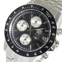 エルジン ELGIN クロノ クオーツ メンズ 腕時計 FK1408S-BN ブラック【楽ギフ_包装】