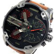 ディーゼル DIESEL ミスターダディ クロノ クオーツ メンズ 腕時計 DZ7332 ブラック【送料無料】【楽ギフ_包装】