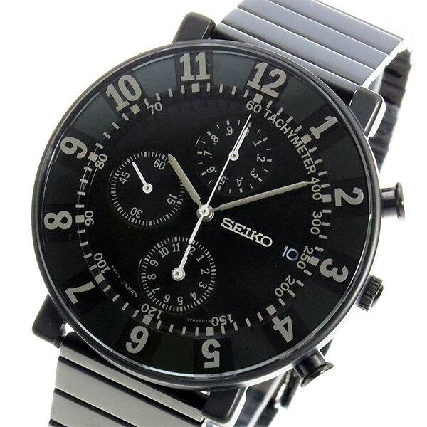 セイコー スピリット SEIKO×SOTTSASS クロノ メンズ 腕時計 SCEB037 ブラック【送料無料】【_包装】 【送料無料】【ラッピング無料】
