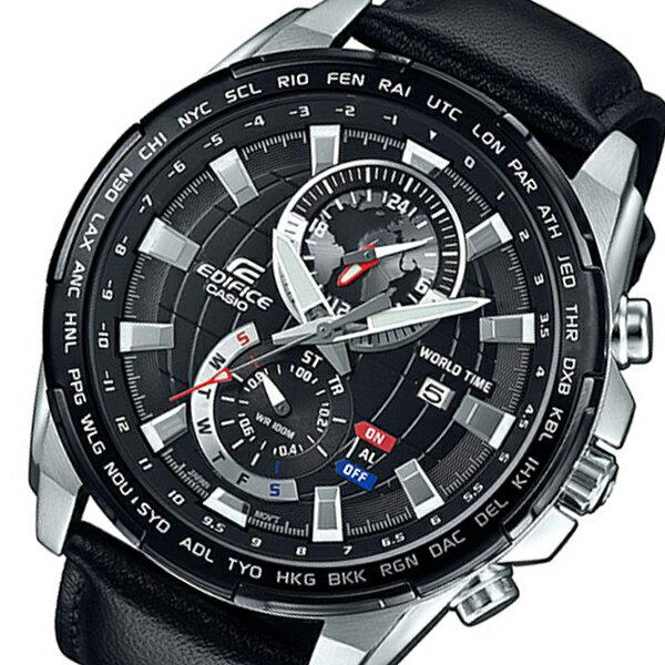 カシオ CASIO エディフィス クロノ クオーツ メンズ 腕時計 EFR-550L-1A ブラック【送料無料】【_包装】 【送料無料】【ラッピング無料】