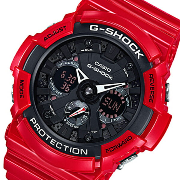 カシオ Gショック アナデジ クオーツ メンズ 腕時計 GA-201RD-4A ブラック/レッド【送料無料】【_包装】 【送料無料】【ラッピング無料】