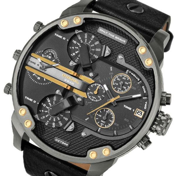 ディーゼル ミスターダディ2.0 クロノ クオーツ メンズ 腕時計 DZ7348 ブラック【送料無料】【楽ギフ_包装】