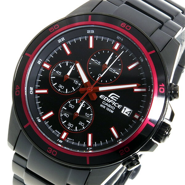カシオ エディフィス クロノ クオーツ メンズ 腕時計 EFR-526BK-1A4V ブラック【送料無料】【_包装】 【送料無料】【ラッピング無料】