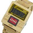 ディップクリック DIP CLICK mixer wood クオーツ 腕時計 SW-WOMP RED レッド【送料無料】【楽ギフ_包装】