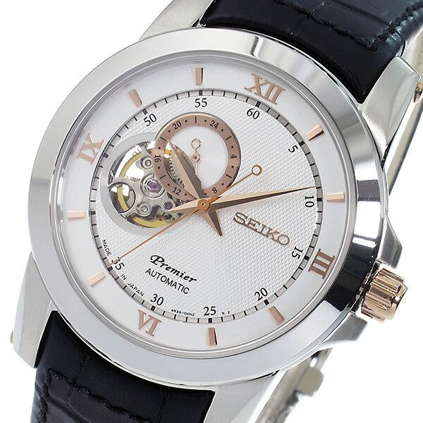セイコー SEIKO プルミエ Premier 自動巻き メンズ 腕時計 SSA322J1 シルバー【送料無料】【_包装】 【送料無料】【ラッピング無料】